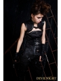 Black Gothic Punk Sleeveless Top for Women