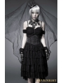 Black Off-the-Shoulder Gothic Corset High-Low Dress