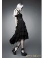 Black Off-the-Shoulder Gothic Corset High-Low Dress