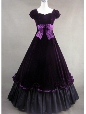 Purple Classic Gothic Victorian Dress