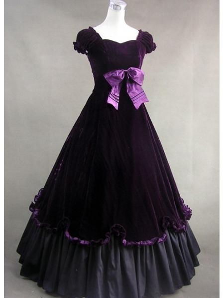 Purple Classic Gothic Victorian Dress Devilnight Co Uk