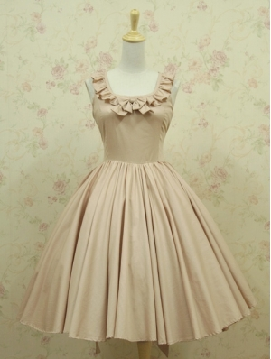 Nude Colors Sleeveless Classic Lolita Dress