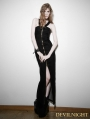 Black Sexy Halter Cowboy Gothic Punk Dress
