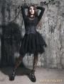Black Gothic Irregular Corset Two-Piece Dress