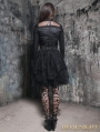 Black Gothic Irregular Corset Two-Piece Dress