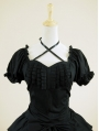 Black Short Sleeves Gothic Lolita Dress