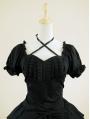 Black Short Sleeves Gothic Lolita Dress