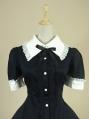 Black Short Sleeves Classic Lolita Dress