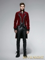 Gothic Dark Rose Swallow-Tailed Coat for Men