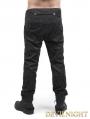 Black Flower Printing Gothic Pants for Men