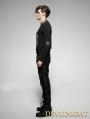Black Gothic Punk Diagonals Pants for Men