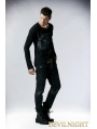 Black Gothic Punk Long Trousers for Men