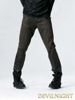 Coffe Gothic Punk Pants for Men