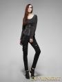 Black Gothic Steampunk Pants for Women