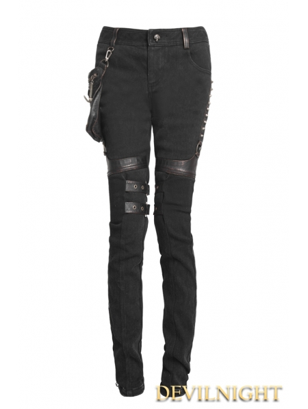 Model Home Gt Gothic Gt Black Two Wear Gothic Punk Pants For Women