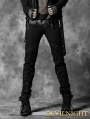 Black Rope Back Denim Gothic Pants for Men