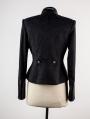 Black Printed Gothic Short Jacket for Women