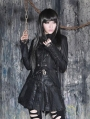 Black Gothic Double Breasted Swallow-Tailed Coat for Women