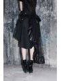 Black Asymmetrical High Waist Gothic Skirt