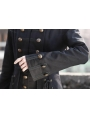 Black Double Breasted Gothic Long Coat for Women
