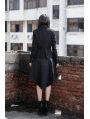 Black Double Breasted Short Gothic Jacket for Women