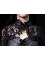 Black Asymmetrical Swallow-Tailed Design Gothic Blouse for Women