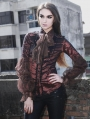 Wind Red Long Sleeves Vintage Gothic Blouse for Women