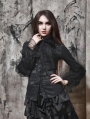 Black Long Sleeves Vintage Gothic Blouse for Women