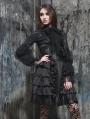 Black High Waist Gothic Layers Short Skirt