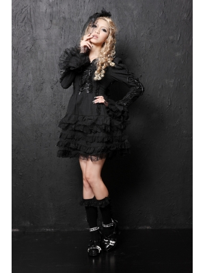 Black/White Gothic Lolita Dress