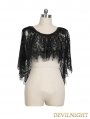 Black Lace Gothic Two Wear Cappa