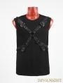 Black Gothic Rib Shirt with Ether Belt