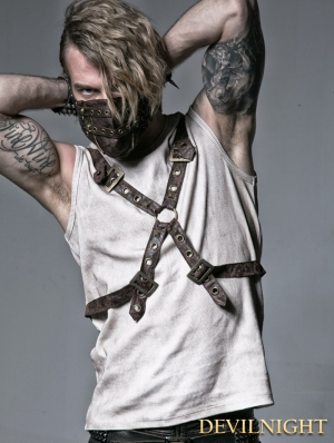 Coffee Rib Shirt with Ether Belt