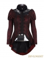 Red Lace Gothic Swallow Tail Style Jacket for Women
