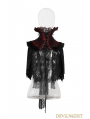 Red and black Lace High Collar Gothic Cape