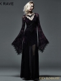 Dark Violet Sexy Gothic Long Vampire Dress
