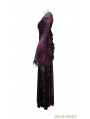 Dark Violet Sexy Gothic Long Vampire Dress