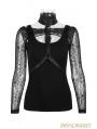 Black Gothic Punk Two-Piece Waistcoat T-Shirt for Women