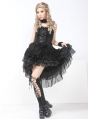 Black High-Low Gothic Lolita Dress