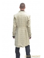 Yellow Alternative Pattern Gothic Coat for Men