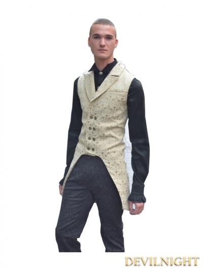 Yellow Alternative Pattern Gothic Vest for Men