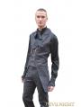 Black Alternative Pattern Gothic Pants for Men