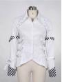 Black/White Tuxedo Style Punk Blouse for Women