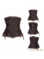 Brown Brocade Underbust Steampunk Corset