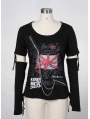 Black Punk T-Shirt for Women