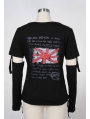 Black Punk T-Shirt for Women