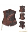 Brown Underbust Steampunk Corset