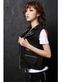 Black Rivet Punk Vest for Women