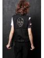 Black Rivet Punk Vest for Women