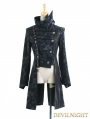 Black Gothic Punk Military Style Jacket for Women